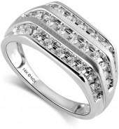 Men's 14k White Gold Diamond Band Ring (1 ct. t.w.)