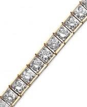 Macy's Diamond Bracelet, 10k Gold Diamond Bracelet (5 ct. t.w.)