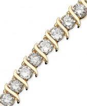 Macy's Diamond Bracelet, 10k Gold Diamond (5 ct. t.w.)