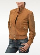 Forzieri Women's Tan Italian Suede Two-pocket Jacket