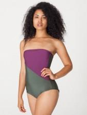 Nylon Tricot Two-Tone Swimsuit