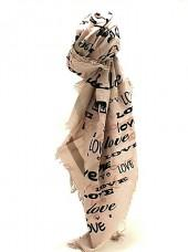 Leigh and Luca Scarf - Love Square Champagne