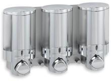Aviva 3-Bottle Chrome Shower Dispenser