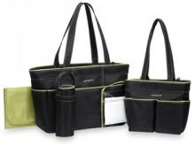 Carter's® 5-Piece Diaper Bag Set - Black/Sage