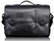 Tumi 'Alpha' Split Flap Expandable Leather Briefcase