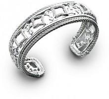 David Yurman Diamond & Sterling Silver Open Bracelet
