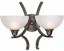 Luxor 2-Light Antiqued Brushed Steel Wall Sconce