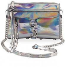 Rebecca Minkoff Mini MAC PVC Crossbody Bag, Platinum