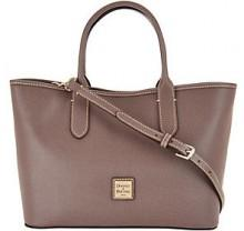 Dooney & Bourke Saffiano Leather Satchel Handbag -Brielle