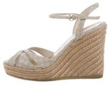 Gucci Microguccissima Espadrille Wedges