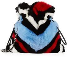 Les Petits Joueurs Handbags Ivy Lolita Shearling Fur Bucket Bag