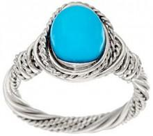 QVC As Is Sleeping Beauty Turquoise Wrapped Sterling Ring