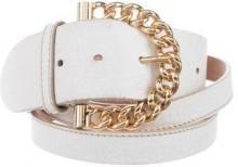 Dolce & Gabbana Chain-Link Leather Waist Belt