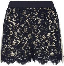 Goen J Two-Tone Corded Lace Shorts