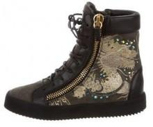 Giuseppe Zanotti Embroidered High-Top Sneakers w/ Tags