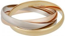 Cartier Estate Trinity de Cartier 18k Classic Triple-Band Bangle