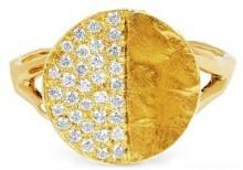 Logan Hollowell - New! 18K First Quarter Moon Phase Coin Ring