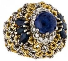 18K Sapphire & Diamond Cocktail Ring