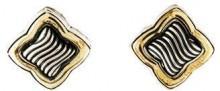 David Yurman Two-Tone Quatrefoil Stud Earrings