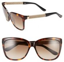 Women's Jimmy Choo 'Coras' 56Mm Retro Sunglasses - Dark Havana