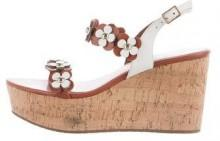 Kate Spade New York Leather Floral-Accented Wedges