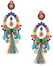 Anna & Ava Amelia Beaded Tassel Statement Earrings