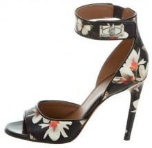 Givenchy Floral Shark-Lock Sandals