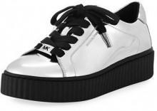 MICHAEL Michael Kors Trevor Lace-Up Metallic Platform Sneaker