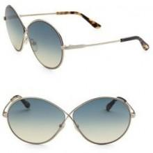 Tom Ford Eyewear Rania 64MM Oval Sunglasses