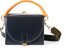 Sacai Large Leather Flap-Top Satchel Bag