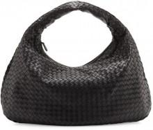 Bottega Veneta Veneta Intrecciato Large Hobo Bag, Black