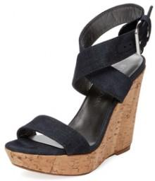 Crossover Cork Wedge Sandal