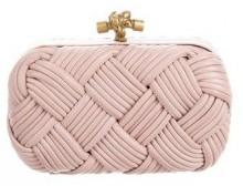 Bottega Veneta Leather Knot Clutch