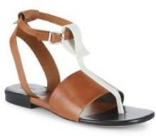 Vachetta Leather Cutout Sandals
