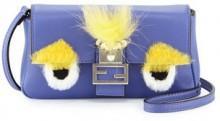 Fendi Baguette Micro Bag Bugs Crossbody Bag, Purple