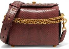 Alexander McQueen - Box Bag Large Python Shoulder Bag - Red