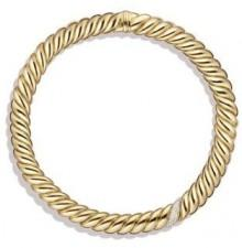 David Yurman Hampton Cable Necklace With Diamonds In 18K Gold